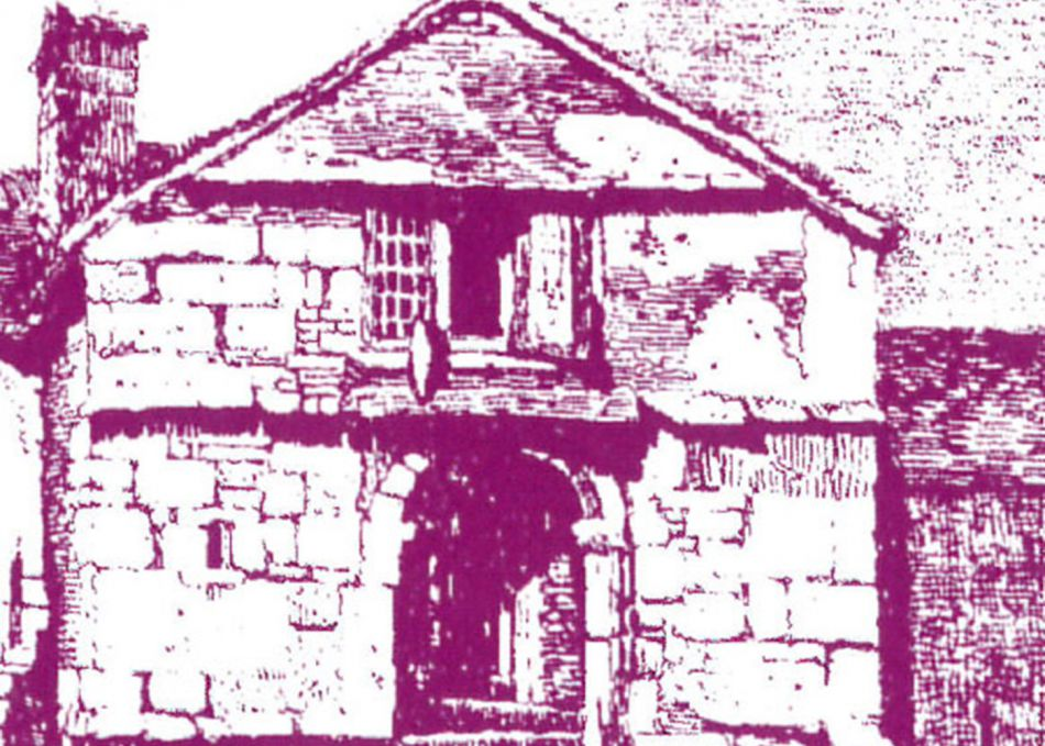 Drawing of Glasney College