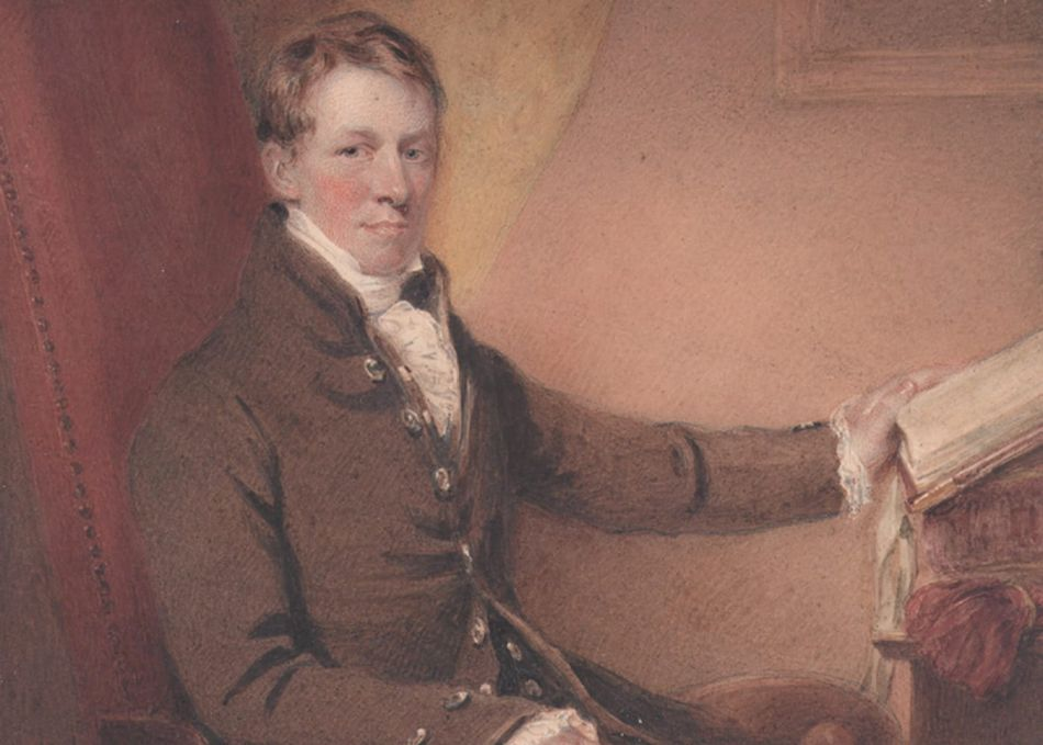 Painted portrait of Sir Humphry Davy