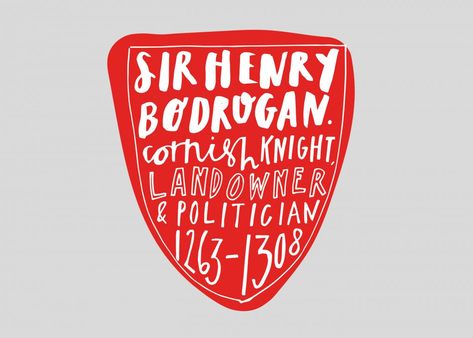 Typographic Illustration of Sir Henry Bodrugan