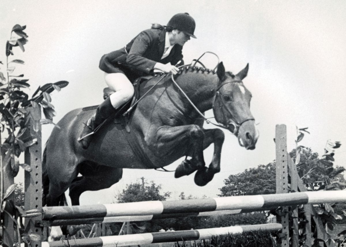 Show jumping at Camborne Show in the 1980s