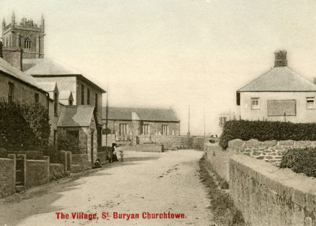 Churchtown in St Buryan in 1913
