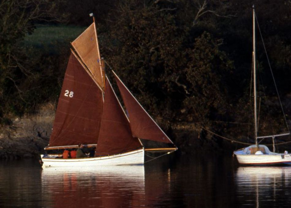 Traditional oyster boats on the River Fal