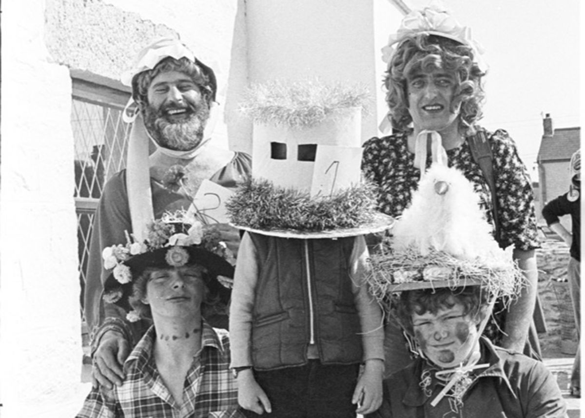 Easter Bonnet competition at Halzephron Inn