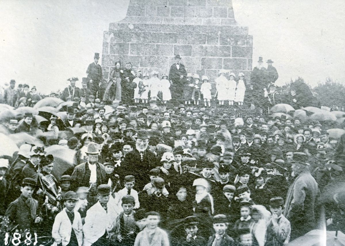 Knill Ceremony at Steeple Monument on Worvas Hill in 1881