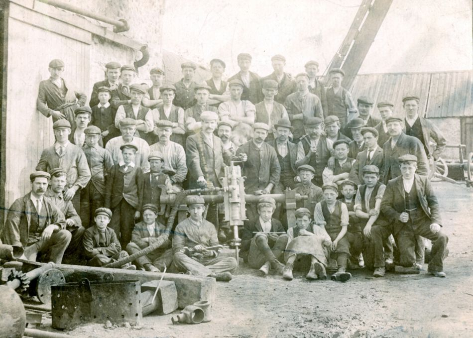 Cornish miners from the Pool area