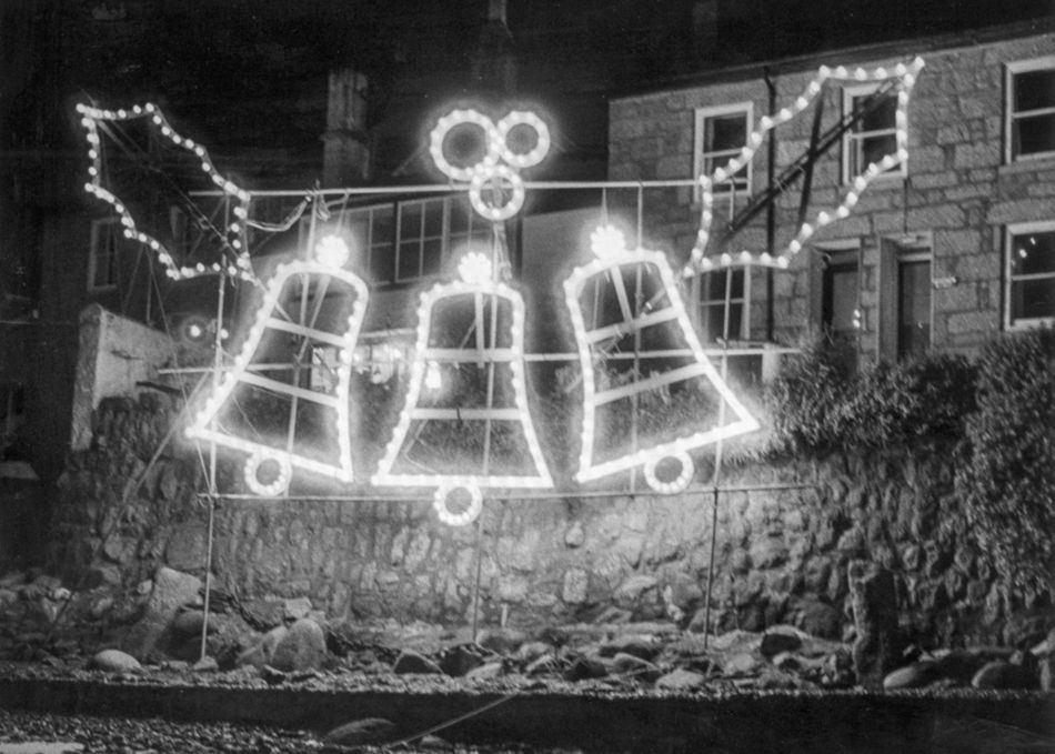 1980s Mousehole Christmas lights