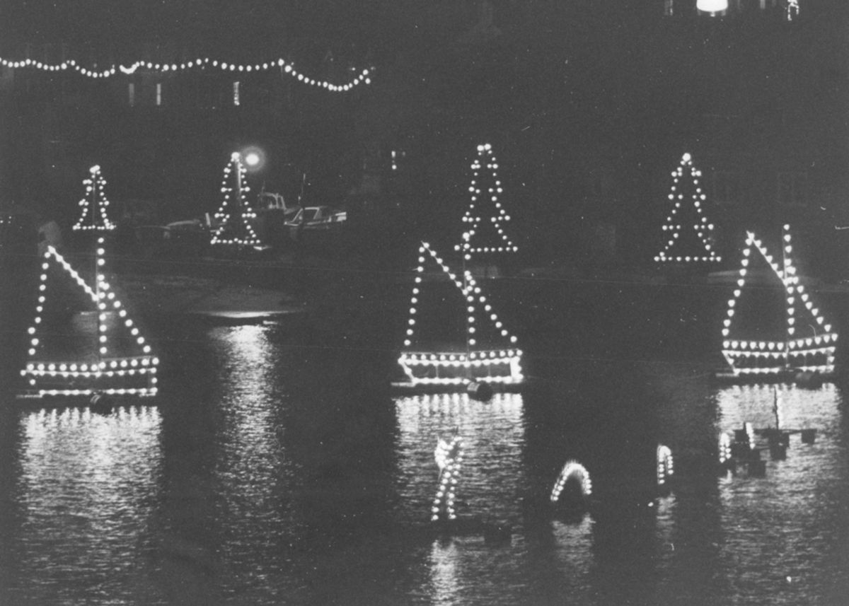 Mousehole Christmas lights in the 1980s