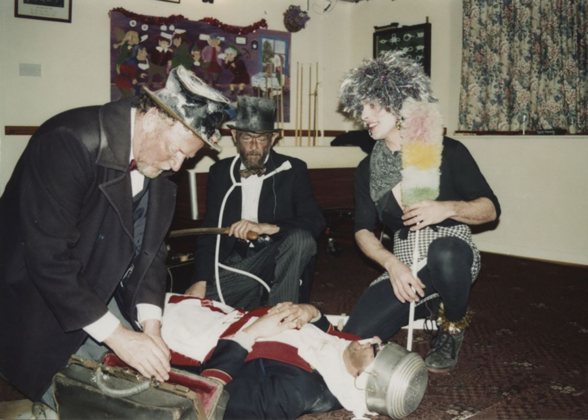 The Lizard Mummers trying to revive the Turkish Knight in 1995