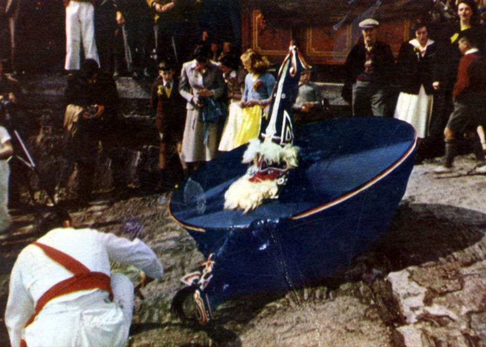 Padstow Obby Oss celebrations in 1962