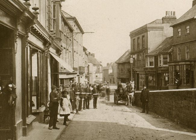 Penryn's Lower Street, looking towards Falmouth