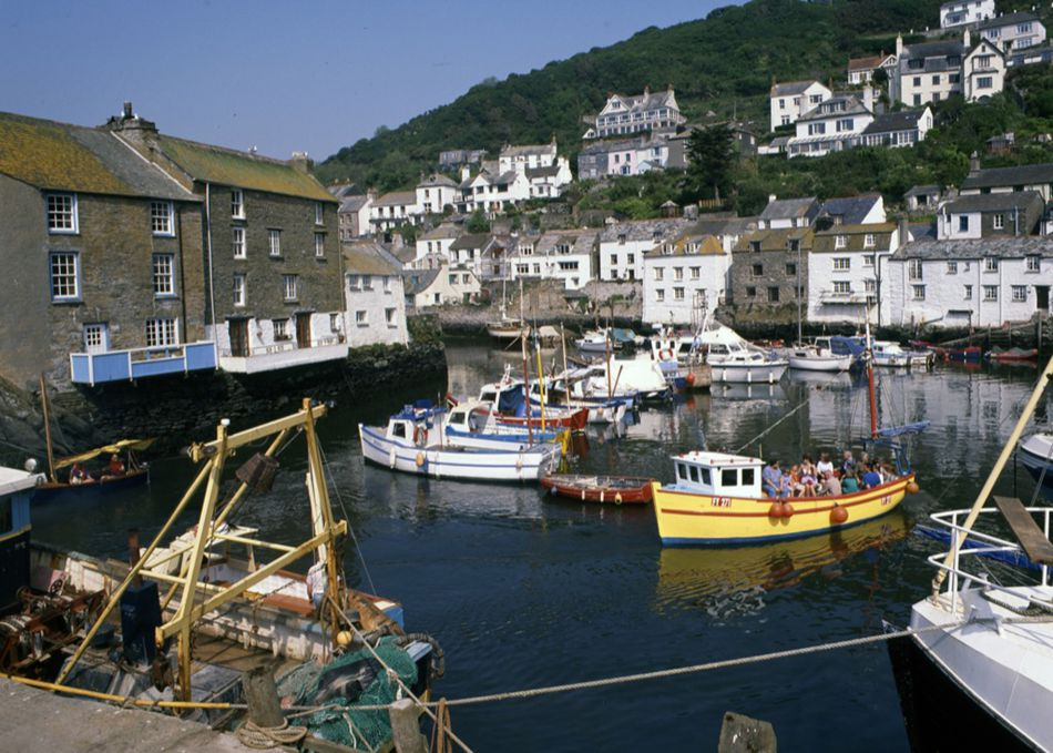 Polperro Harbour in the 1960s