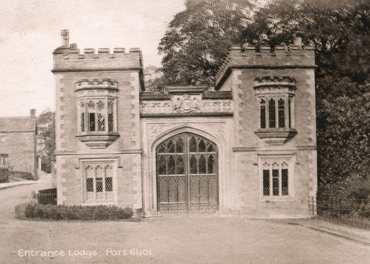 The Lodge House at Port Eliot, home of the Earl of St Germans
