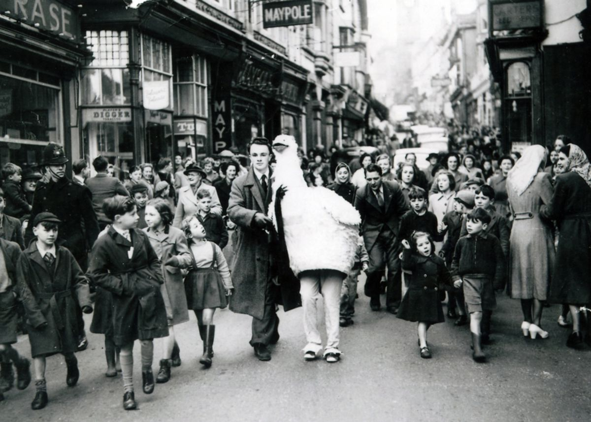 Redruth Christmas pantomime of Mother Goose in 1955