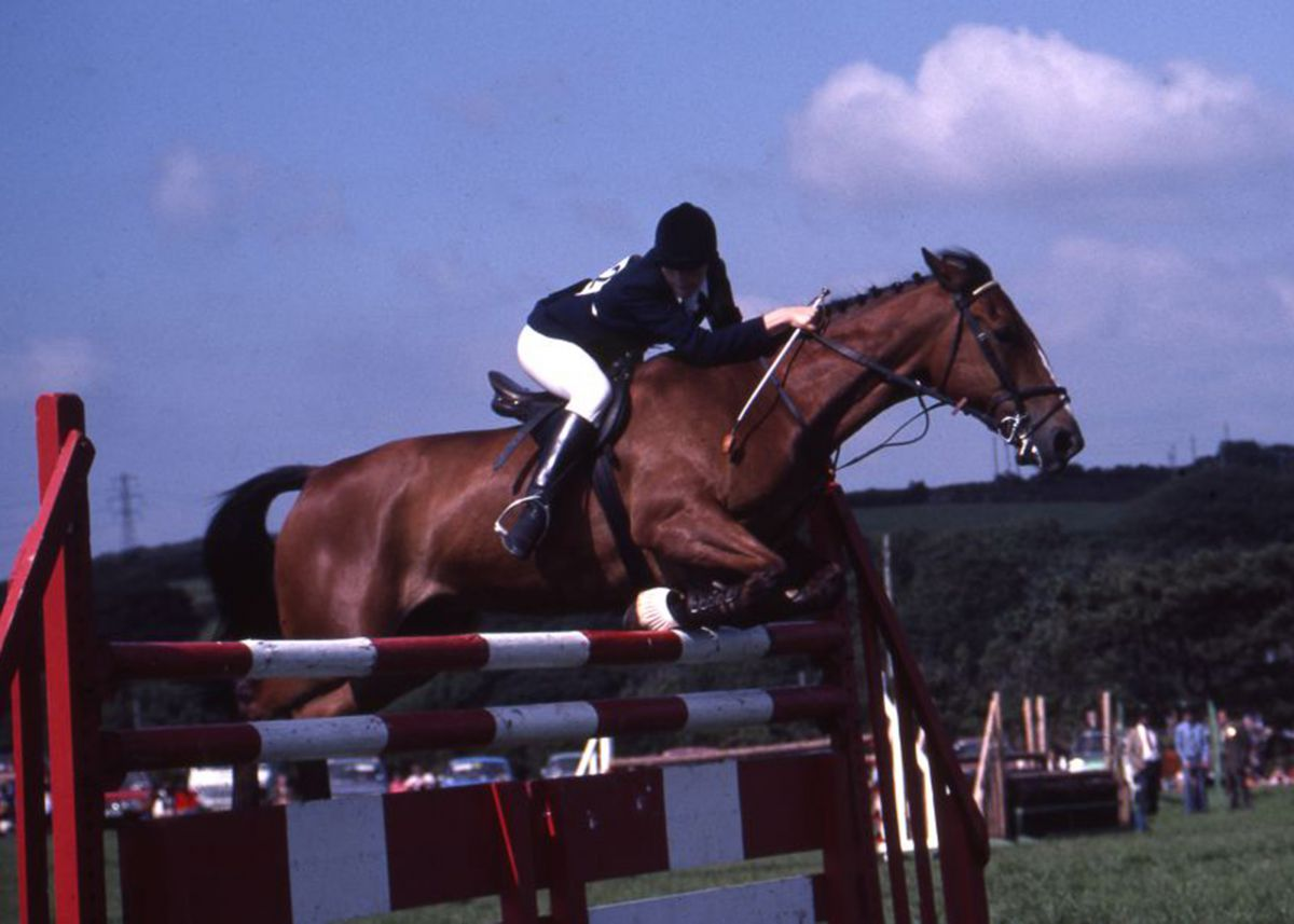 Show jumping at Stithies Show in the 1980s