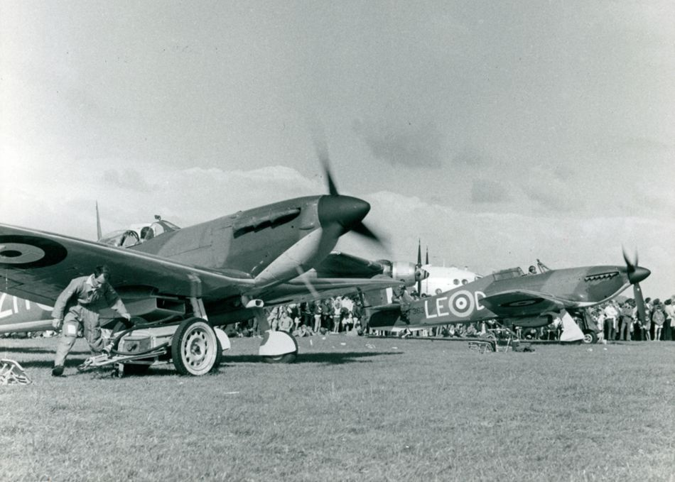 Spitfire and Hurricane WWII planes at Culdrose Air Day