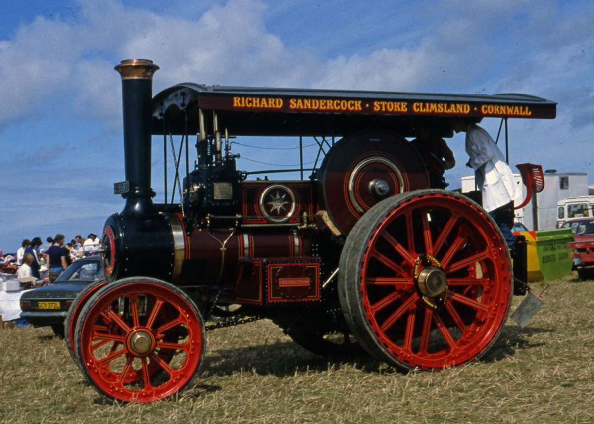1924 Burrell 11.5 tons Road Locomotive at St Agnes Steam Rally