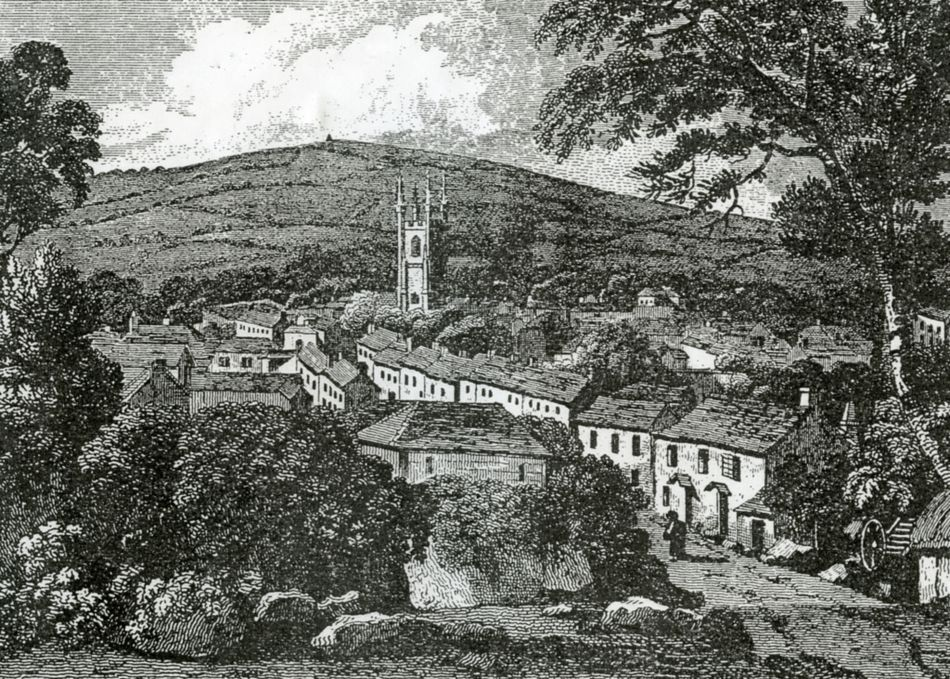 Illustration from the 1700s of St Austell