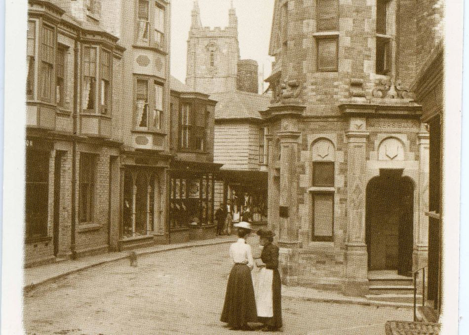 Fore Street, St Columb Major, in 1901