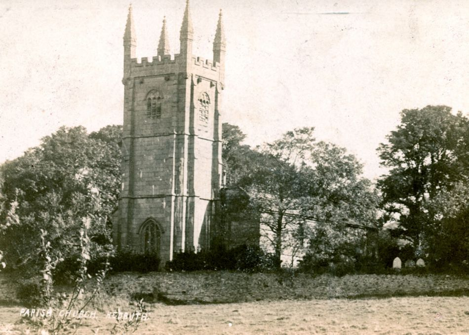 St Euny Church in Redruth in 1905