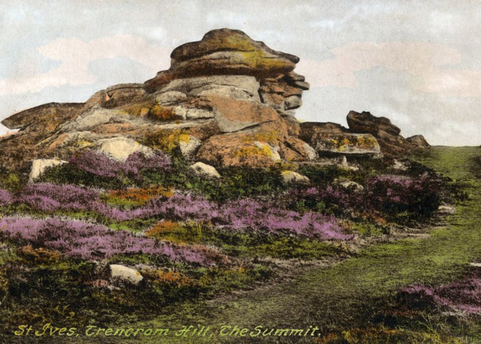 Trencrom Hill around 1900