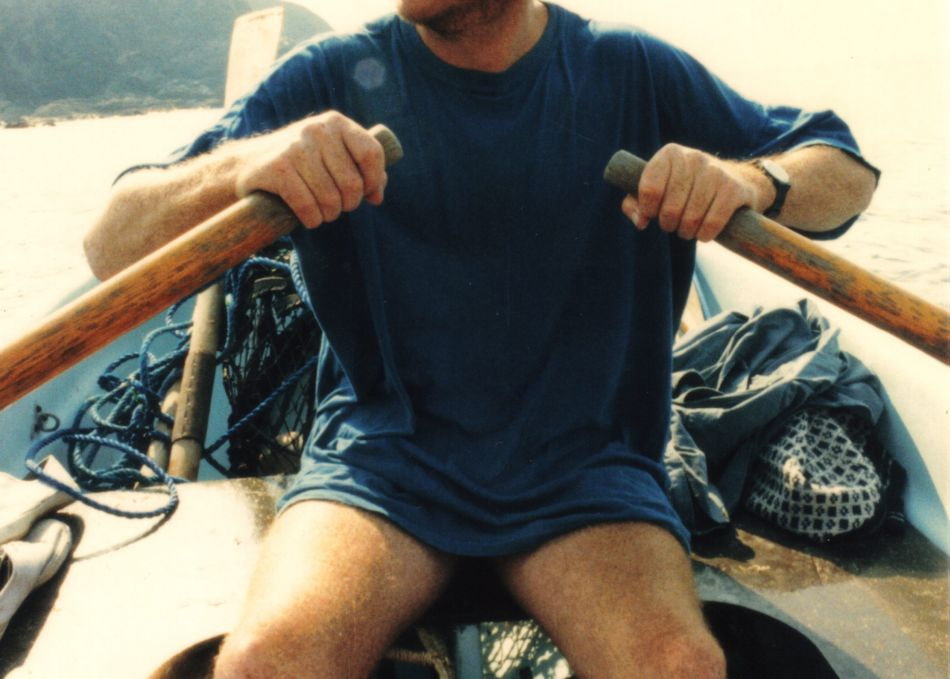 Nick Darke rowing in 1998