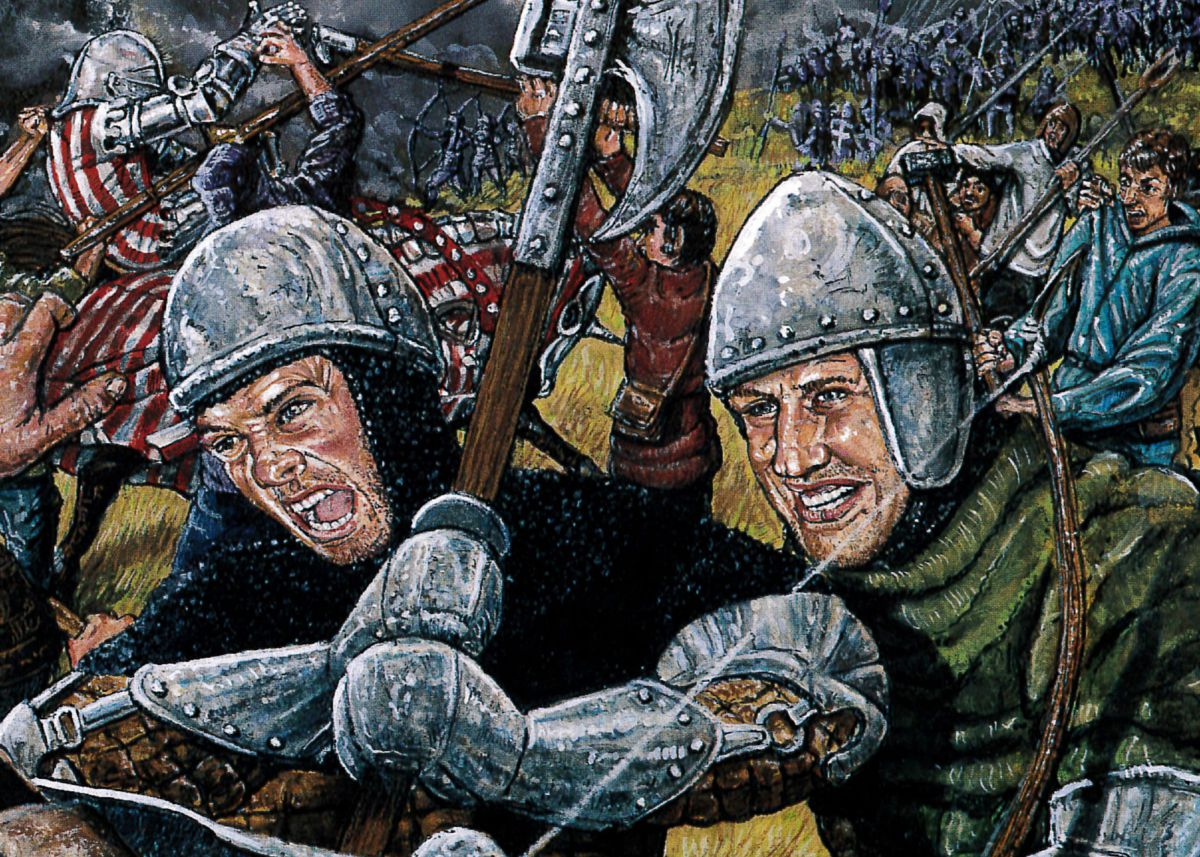 Illustration of soldiers in the Battle of Blackheath