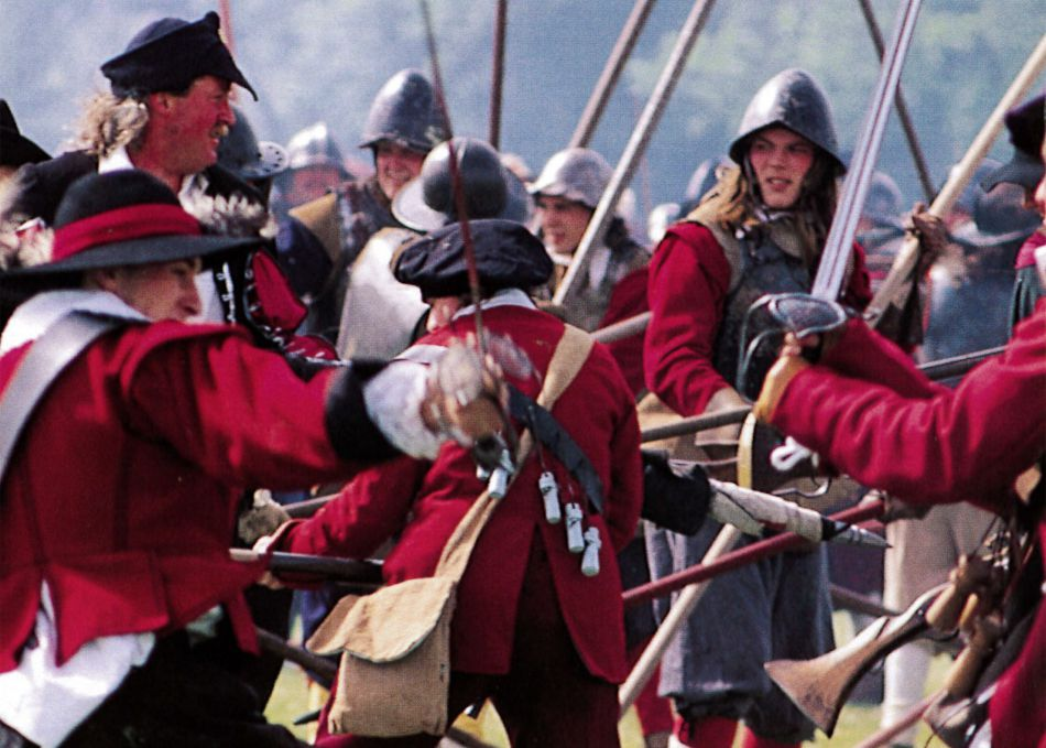 Photograph showing a reenactment of the Battle of Stratton