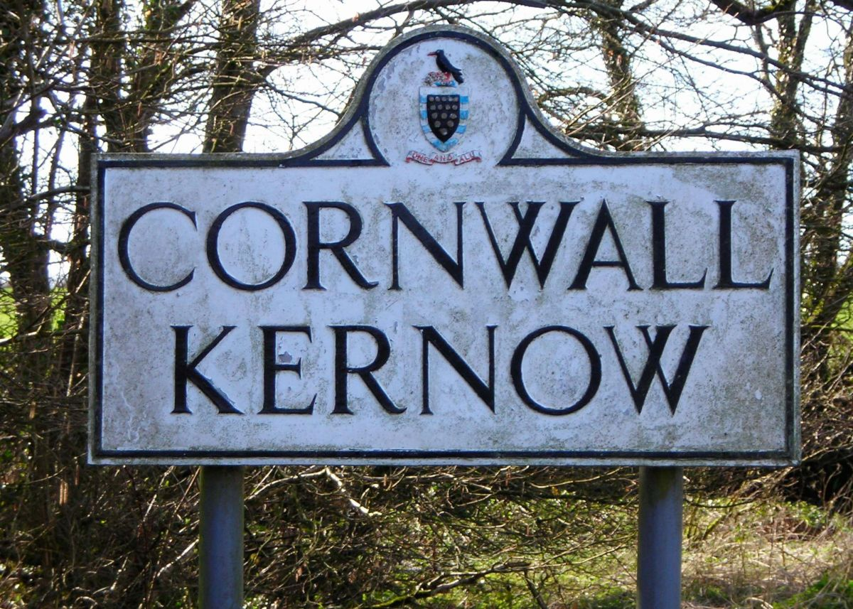 Cornish border sign