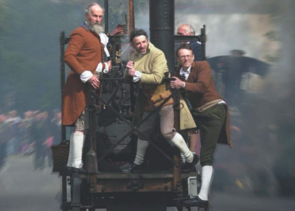 Richard Trevithick's journey up Camborne Hill