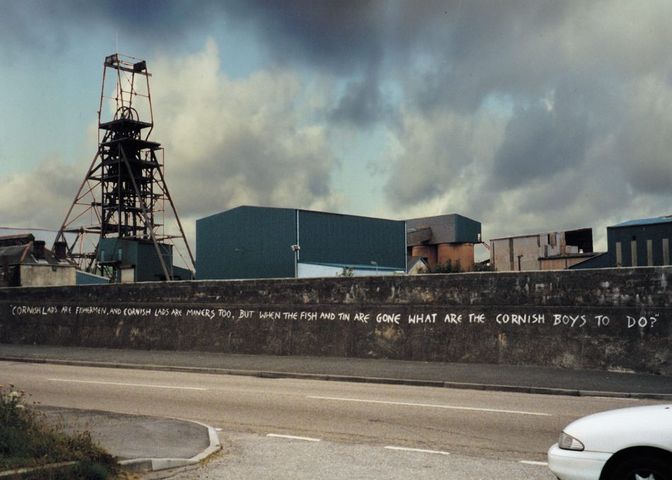 Photograph of the South Crofty Tin Mine Closure in 1998