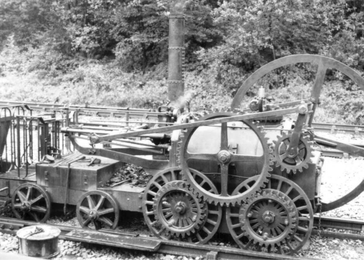 Reconstruction of Richard Trevithick's Coalbrookdale locomotive