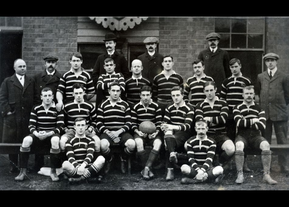 The 1908 Cornwall Rugby Union County Team at Gloucester