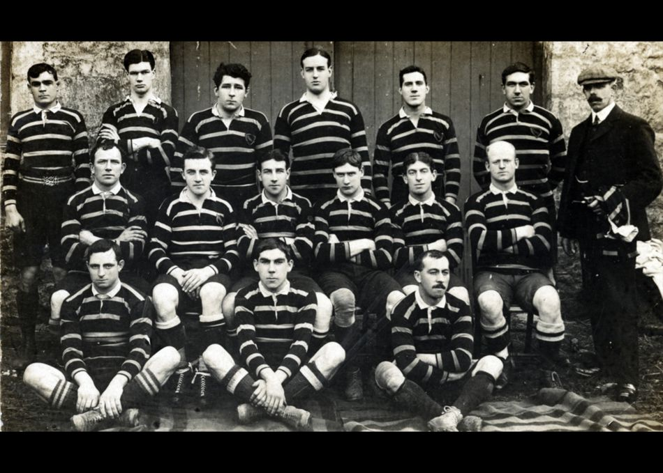 Cornwall Rugby Union County Team in 1908