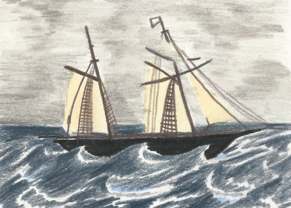 Illustration of a Falmouth Packet Service Ship