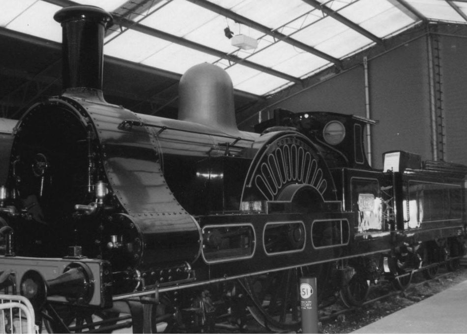 The locomotive 'Cornwall', designed by Richard Trevithick's son Francis Trevithick