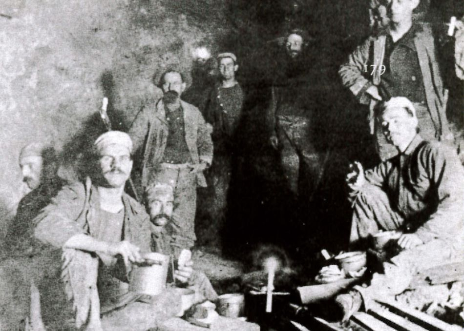 Photograph of Cornish Miners at the New Almaden Mine in California, United States