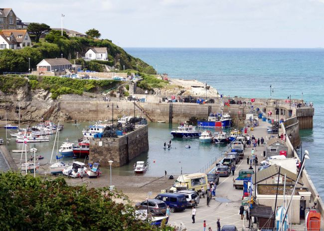 Newquay Harbour in Cornwall