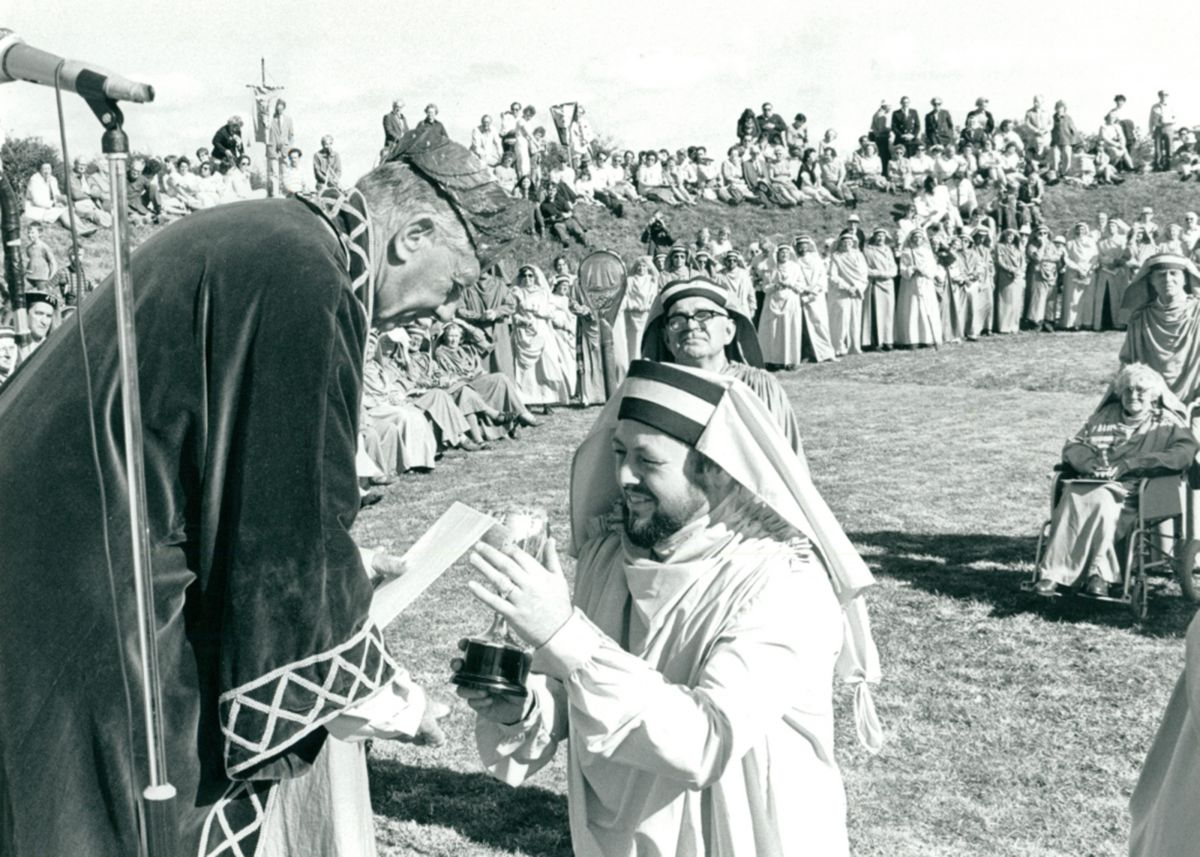 Gorsedh Ceremony at Perran Round in 1985