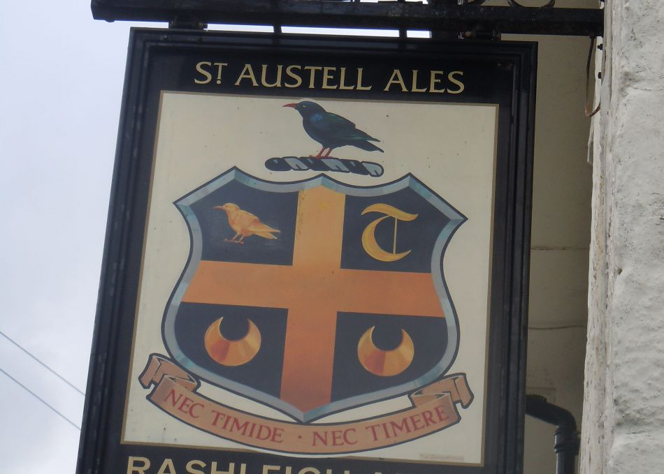 Photograph of the Rashleigh Arms Sign