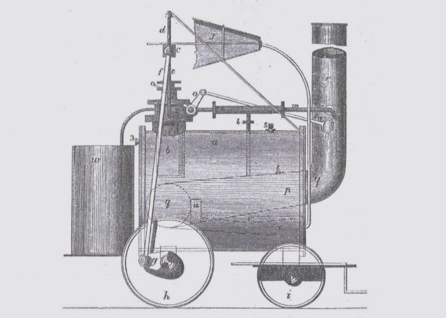 Diagram of Richard Trevithick's Puffin' Devil