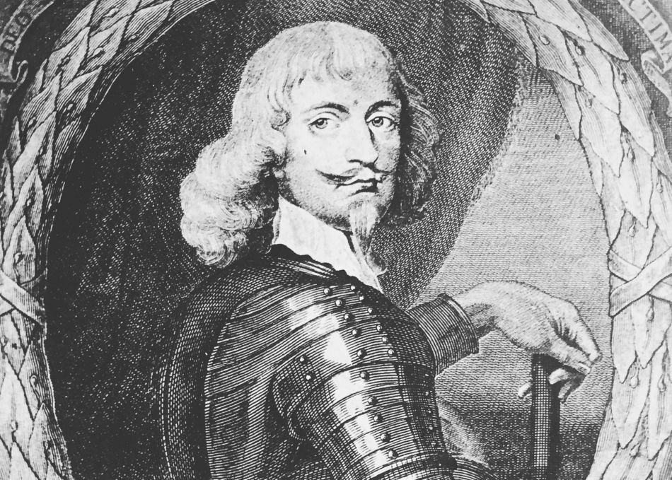 Illustrated portrait of Sir Bevil Grenville