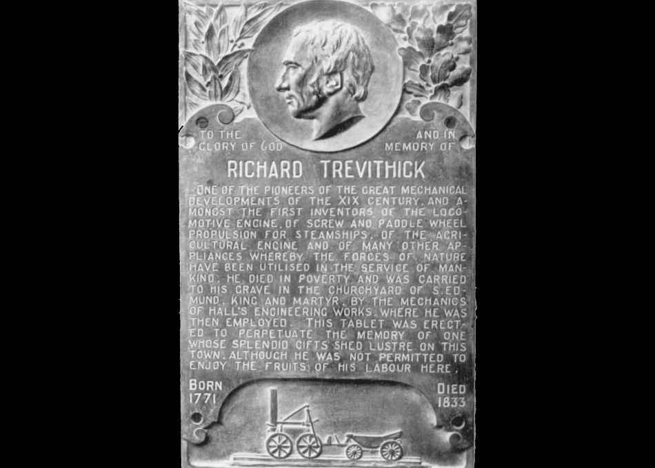Plaque dedicated to Richard Trevithick in Dartford