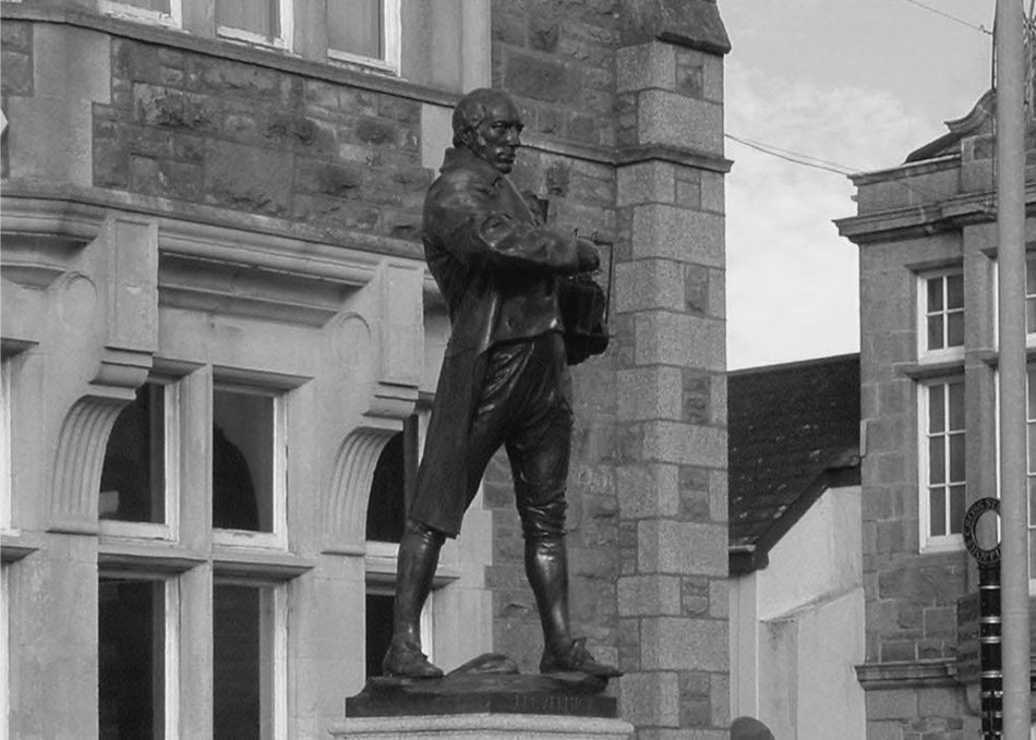 Statue of Richard Trevithick in Camborne, Cornwall
