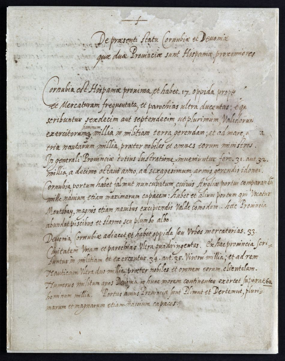 Letter written by Tristam Winslade to the king of Spain encouraging him to invade England
