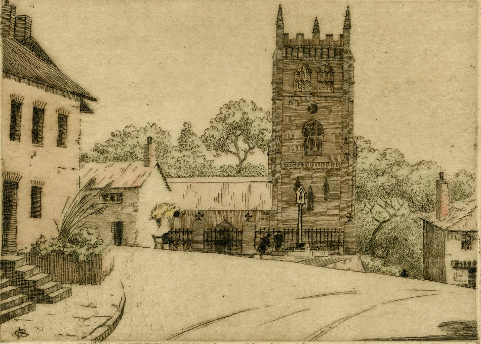 Postcard of a Cornish church
