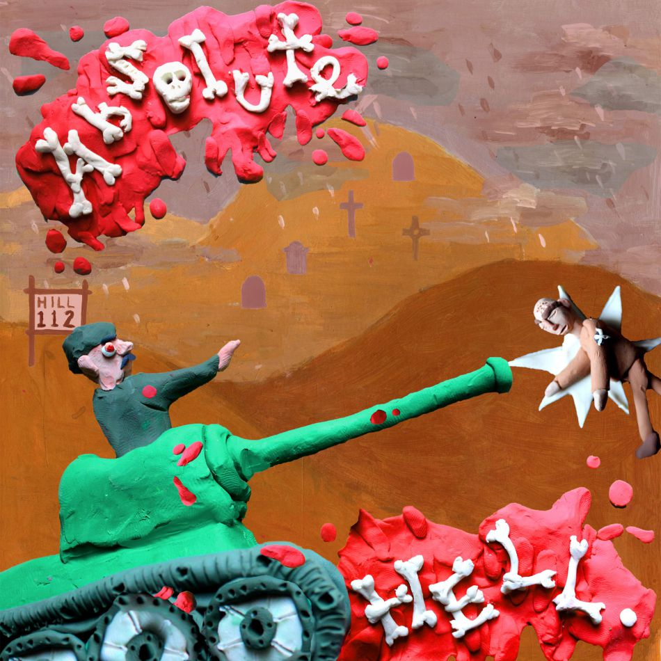 Plasticine illustration showing soldiers fighting for control of Hill 112